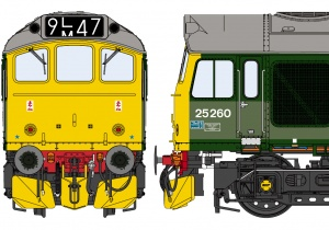 Class 25/3 BR Two-Tone Green – TOPS