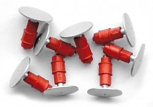Oleo loco buffers sprung (x8) Red